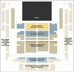 ACC Seating Chart for Starry Night Concert