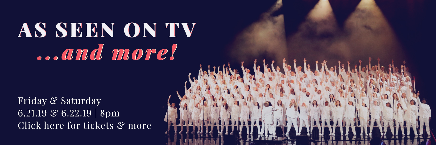 As Seen on TV...and More! Angel City Chorale in concert, June 21 and 22, 2019
