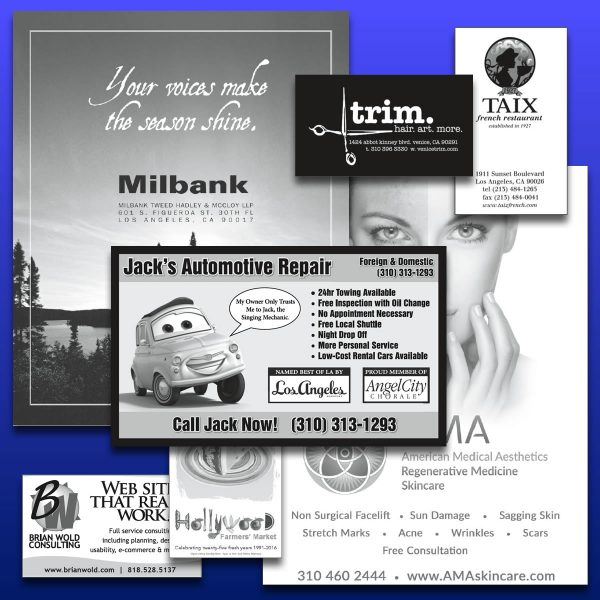 Program Ad Examples