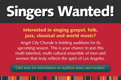 Singers Wanted: auditions are coming up